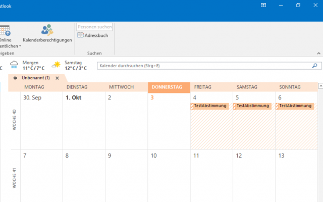 TERMINO im Outlook